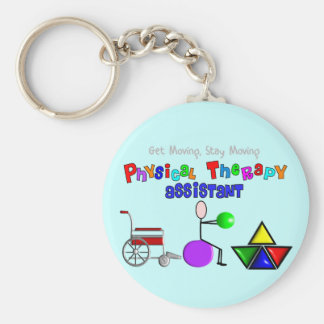 Physical Therapy Assistant Gifts Unique Graphics Basic Round Button Key Ring