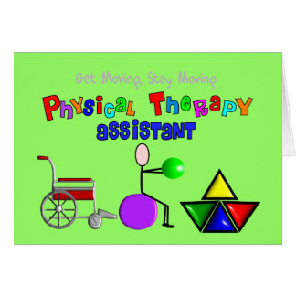 Physical Therapy Assistant Gifts Unique Graphics Greeting Card