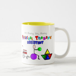 Physical Therapy Assistant Gifts Unique Graphics Two-Tone Coffee Mug