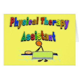 Physical Therapy Assistant--Stick Figure Design Card