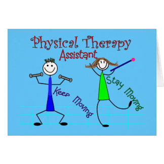 Physical Therapy Assistant Stick People Design Greeting Card