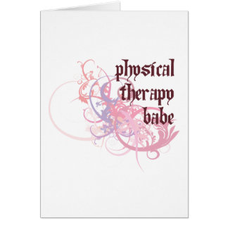 Physical Therapy Babe Card
