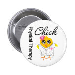 Physical Therapy Chick Pinback Button
