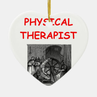 physical therapy christmas ornament