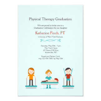 Physical Therapy Graduation Invitation