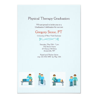 Physical Therapy Graduation Invitation (Male)