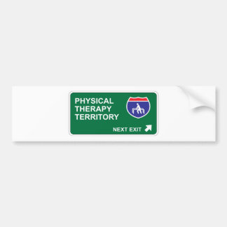 Physical Therapy Next Exit Bumper Sticker