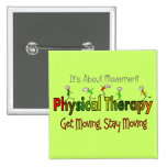 Physical Therapy Products and Gifts 15 Cm Square Badge