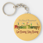 Physical Therapy Products and Gifts Basic Round Button Key Ring