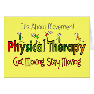 Physical Therapy Products and Gifts Greeting Card