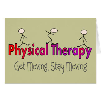 Physical Therapy Stick People Design Card