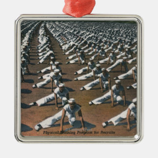 Physical Training Program for Recruits - US Navy Silver-Colored Square Decoration