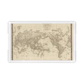 Physical world map acrylic tray
