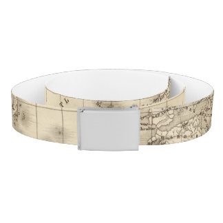 Physical world map belt