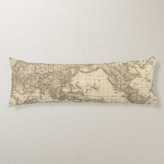 Physical world map body cushion