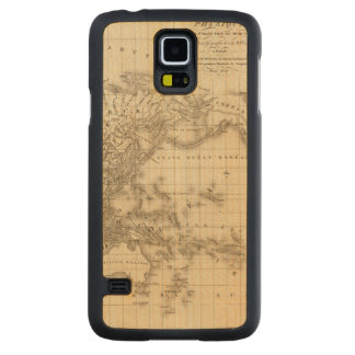 Physical world map carved maple galaxy s5 case
