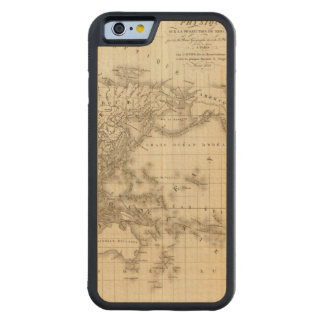 Physical world map carved maple iPhone 6 bumper case