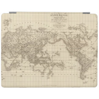 Physical world map iPad cover