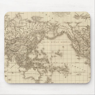 Physical world map mouse mat