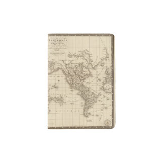 Physical world map passport holder