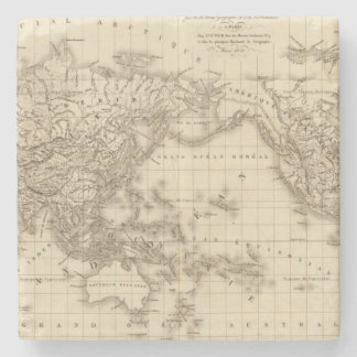 Physical world map stone coaster
