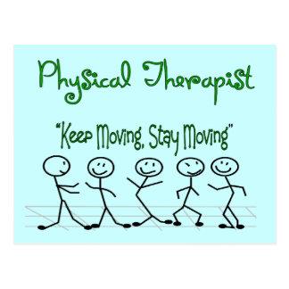 physicall Therapist Stick People Postcard