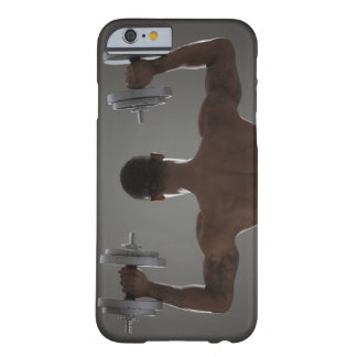 Physically fit man lifting dumbbells 2 barely there iPhone 6 case
