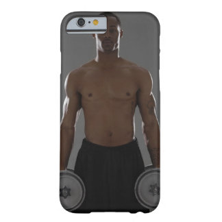 Physically fit man lifting dumbbells barely there iPhone 6 case