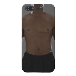 Physically fit man lifting dumbbells iPhone 5/5S covers