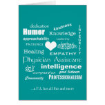 Physician Assistant Attributes/White Text Greeting Card