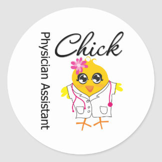 Physician Assistant Chick Round Sticker