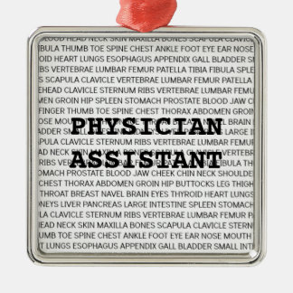 Physician Assistant Medical Terminology Christmas Silver-Colored Square Decoration