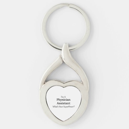 Physician Assistant Silver-Colored Twisted Heart Key Ring