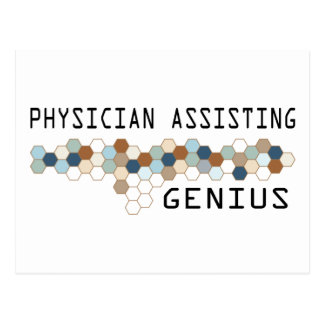 Physician Assisting Genius Postcard