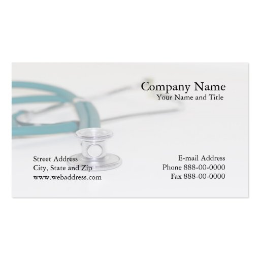 Create your own physician business cards for Physician business cards