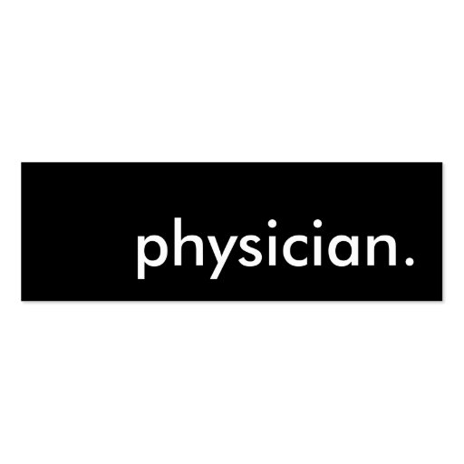 Create your own doctor business cards page14 for Physician business cards