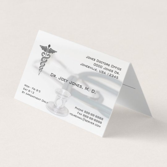 Physician Doctor Stethoscope Folded Business Business Card