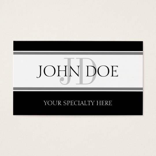 Physician Stripes White Business Card