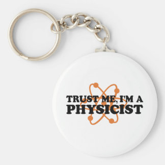 Physicist Basic Round Button Key Ring