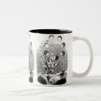 Physicist Juggling with the Planets Two-Tone Coffee Mug