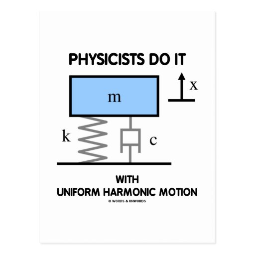 Physicists Do It With Uniform Harmonic Motion Post Card