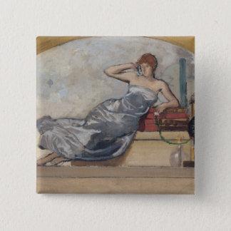 Physics, 1889 15 cm square badge