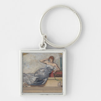 Physics, 1889 Silver-Colored square key ring