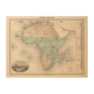 Physics Africa Wood Prints