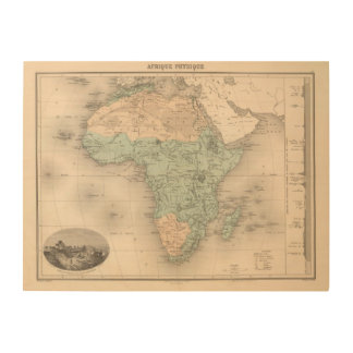 Physics Africa Wood Wall Decor