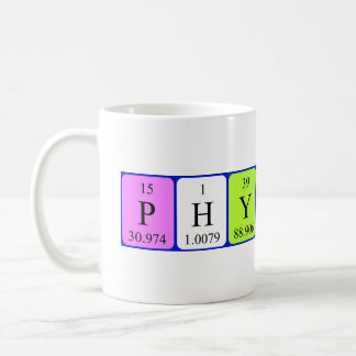 Physics and Chemistry periodic table mug