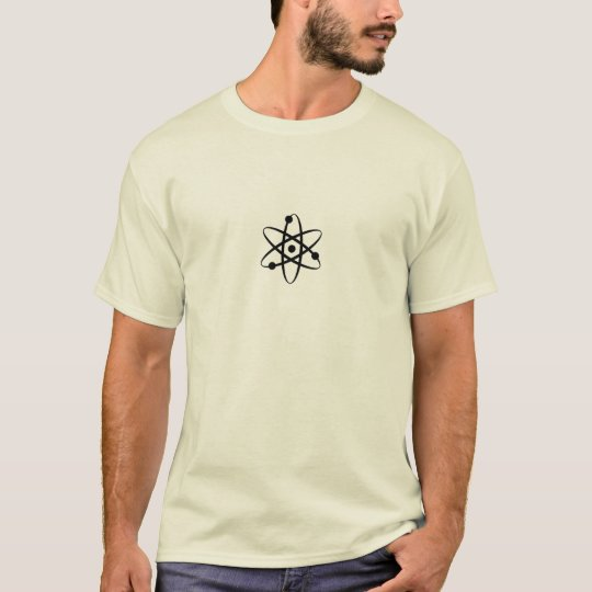 Physics Atom T-shirt on Light background