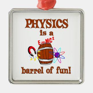 Physics Barrel of Fun Christmas Ornament