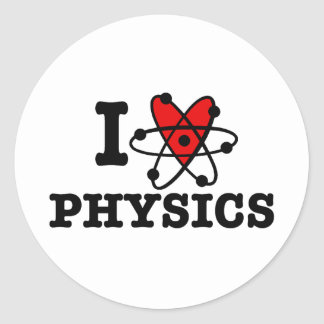 Physics Classic Round Sticker