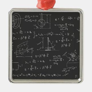 Physics diagrams and formulas christmas ornament